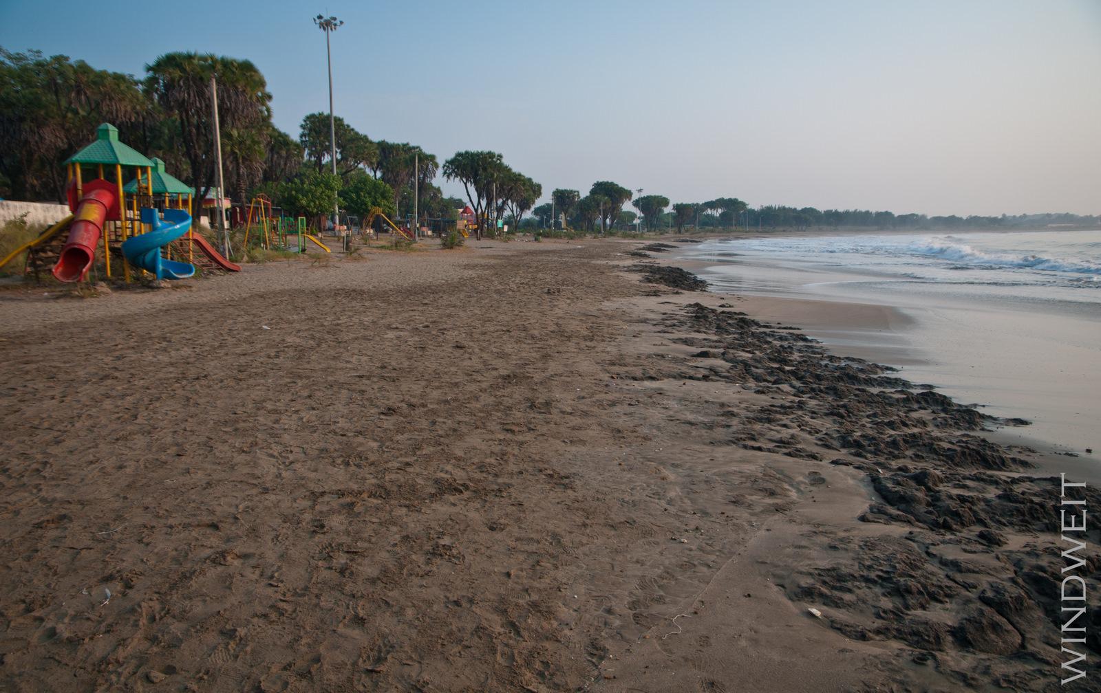 Der Strand von Diu am Morgen