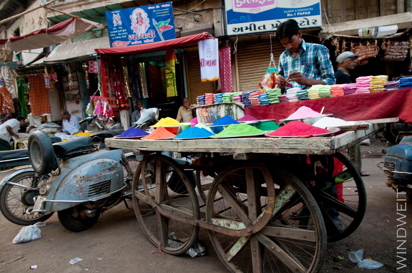 Farbenverkauf für Diwali