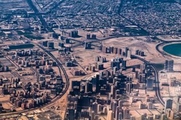Dubai City von oben