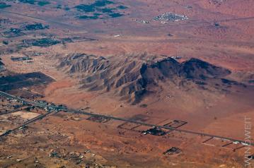 Erhebung in der Wüste